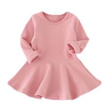bebé vestido tutú niña manga larga Sólido Princesa Informal Niños