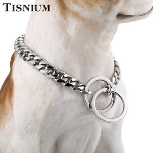 15mm Gold Dog Collar Choker 316L Stainless Steel Pet Supplies Safety Rope Chain