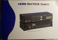 HDMI Matrix Switch 4x2, Black