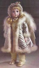 "19""ANTIQUE FRENCH BRU/JUMEAU DOLL DRESS COAT LEGGINGS UNDERWEAR PATTERN GERMAN"