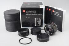 *MINT* Leica Summarit-M 35mm f/2.4 F2.4 E46 ASPH. Lens (11671) Black, M Mount