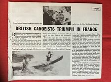 m2r ephemera  1965 picture article lcpl j anderson sac j boulton canoe river mar