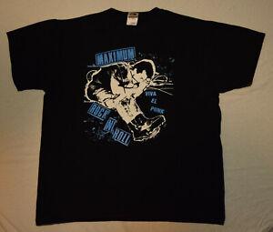 MAXIMUM ROCKNROLL T-SHIRT Large Viva el Punk 2009 Hardcore Punk Rock DIY Music