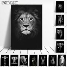 Canvas Painting Animal Wall Art Lion Elephant Deer Zebra Posters And Prints NEW