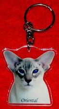 porte-cles chat oriental 2 cat keychain llavero gato schlusselring katze