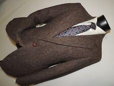 Harris Tweed men's vintage Brown herringbone sports jacket size 38 R
