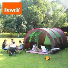 8-10 Person Layer Waterproof Family Camping Hiki Travel Stake Instant House Tent