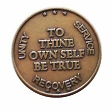 "Bronze Set of 10  ""To Thine Own Self Be True"" AA Medallion by BSP"