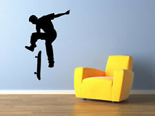 "Skateboarder room vinyl wall decal graphics 30""x19"" Home Decor Wall Decals"