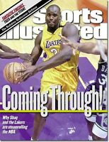 January 17, 2000 Shaquille O'Neal LA Lakers Sports Illustrated NO LABEL