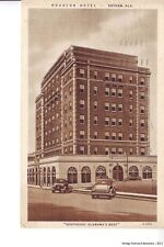 DOTHAN AL 1932 Houston Hotel (now the Woods Building) Old Cars VINTAGE TEICH GEM