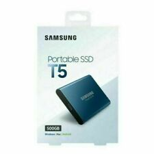 Samsung MU-PA500B/ T5 Portable SSD 500GB External Hard Drive - Blue