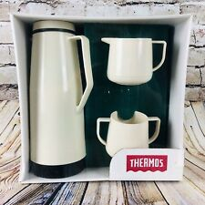 Thermos Coffee Carafe Gift Set 35 oz Hot Cold Carafe Creamer & Sugar Bowl 1994