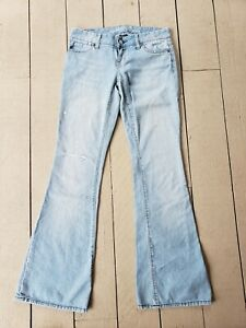 American Eagle Jeans Women's Distressed Faded Flared Size 0 Regular/ Standard...