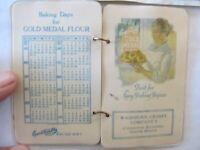1923 Antique Advertising Calendar, GOLD MEDAL FLOUR, BETTY CROCKER, Recipe Book