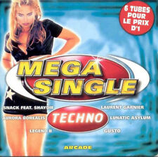 Compilation CD Mega Single Techno - France (EX/EX+)