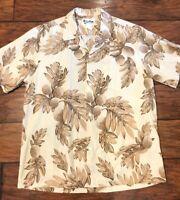 Vintage Howie Made In Hawaii Hawaiian Shirt Floral Aloha Camp Mens Large L