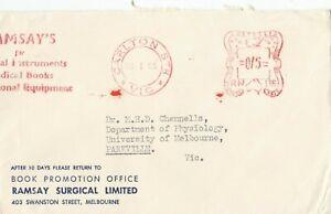 Stamp Australia Ramsay Surgical Ld Melbourne advertising cover 5d meter postmark