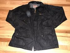 The Australian Outback Collection Drover Waxed Cotton Oilskin Coat Jacket Large