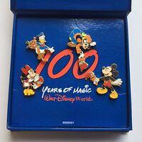 WDW - 100 Years of Magic 4 Pin Box Set Disney Pin 6374