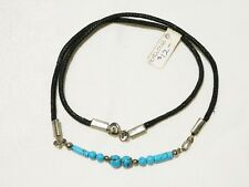 "TURQUOISE CHOKER NECKLACE 45CM SILVER PLATED ""NEW"" AUZ MADE CH36"
