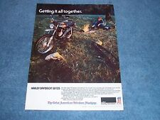 """1974 Haley-Davidson SX-125 Vintage Ad """"Getting it all Together"""" SX125"""