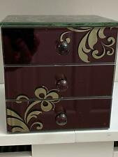 Mirrored Glass Floral Designs Jewellery Box 0095