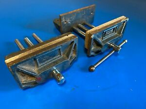 JOB LOT OF TWO RABONE CHESTERMAN BENCH VICES MADE IN ENGLAND
