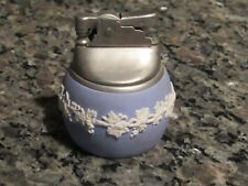 Wedgwood Jasperware Cigarette Lighter Vintage Blue