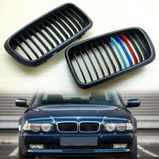 1995-2001 ///M-color Matte Black Kidney Grilles for BMW E38 7-series Sedan 4D