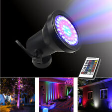 RGB Flood Light 3W 6W 12W 18W Outdoor Garden Remote-Control Color Changing Light