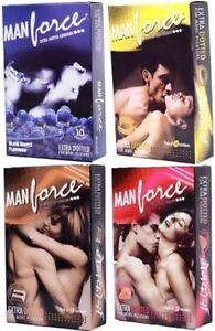 4 x Manforce Dotted Condoms Different Flavour, Quantity Combo Pack  Shipping