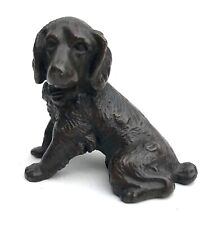 Antique Austrian Miniature Bronze Dog Spaniel Puppy In The Style Of Bergman