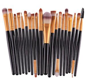 20Pcs Makeup Brushes Set Professional Plastic Handle Soft Synthetic Hair