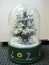 Cute Plastic Christmas Snow Globe Musical with Blowing Snow