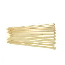36Pcs 18 Sizes Bamboo Crochet Hooks Knitting Needles Single Tip Point Needles