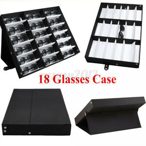 18 GRIDS SUNGLASSES GLASSES BOX CASE SHOP DISPLAY STAND UNIT TRAY HOLDER