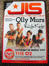 JLS THE 4TH DIMENSION TOUR 2012 LONDON A4 POSTER SPORTS RELIEF OLLY MURS