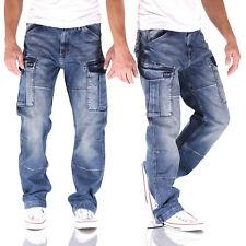 Big Seven Brian Vintage Aged Cargo Comfort Fit Herren Jeans Hose
