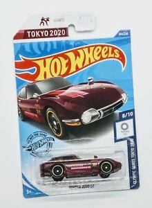 2020 HOT WHEELS Olympic Games Tokyo 2020 TOYOTA 2000 GT Burgundy  New L CASE NIP