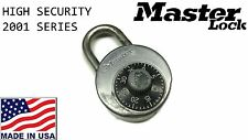 MASTER LOCK No 2001 Heavy Duty High Security Stainless Steel Combo Padlock