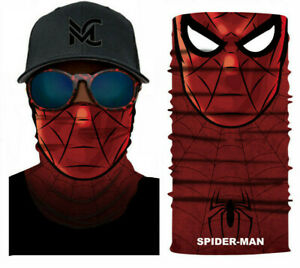Spiderman Face Mask Covering Reusable Washable Full Face Breathable Stretch AUS