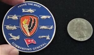 RARE 2 Star General US Army Aviation Center of Excellence Rucker Challenge Coin