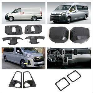 For Toyota HiAce H300 2019 2020 2021 Carbon Black Accessories Cover Trim 8pcs