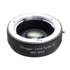 Upgraded version Lens turbo II adapter for Minolta MD MC lens to M43 MFT OM-D GH