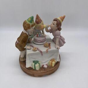 lefton happy birthday figurine music box