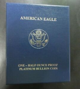 2007-W American Eagle Half Ounce Proof Platinum Coin, Low Mintage, US Mint 7T2