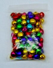 LOT 1,000 JINGLE BELLS ~ MIXED JEWEL Tones Christmas Colors Beads Charms 10-12mm