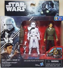 "Star Wars First Order Snowtrooper Officer Poe Dameron 3.75"" Force Awakens"