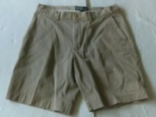 Polo Ralph Lauren Prospect Short 100% Cotton Tan Khaki Size 34 Flat Front